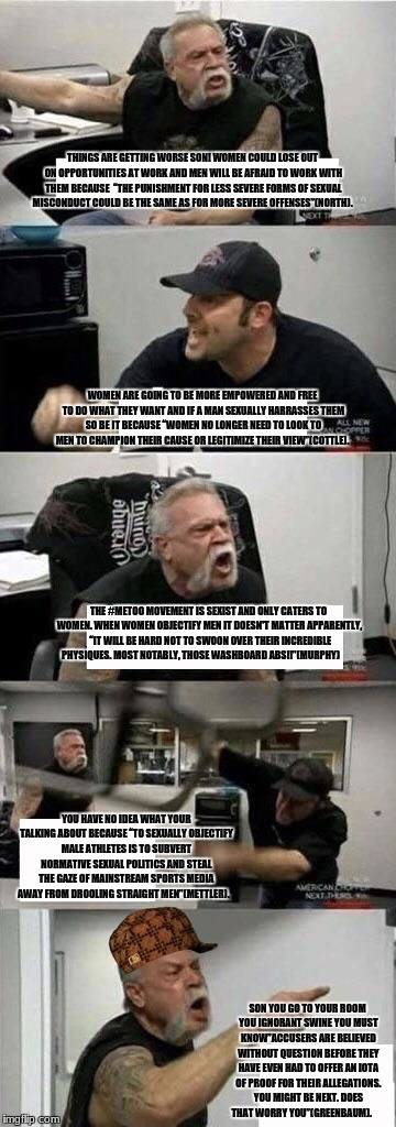 "American Chopper Argument | THE #METOO MOVEMENT IS SEXIST AND ONLY CATERS TO WOMEN. WHEN WOMEN OBJECTIFY MEN IT DOESN'T MATTER APPARENTLY,  ""IT WILL BE HARD NOT TO SWOO 