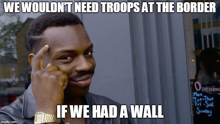 Just that simple. | WE WOULDN'T NEED TROOPS AT THE BORDER IF WE HAD A WALL | image tagged in memes,roll safe think about it,border wall,trump wall,troops | made w/ Imgflip meme maker