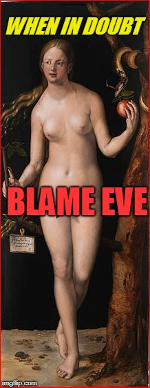 WHEN IN DOUBT BLAME EVE | made w/ Imgflip meme maker
