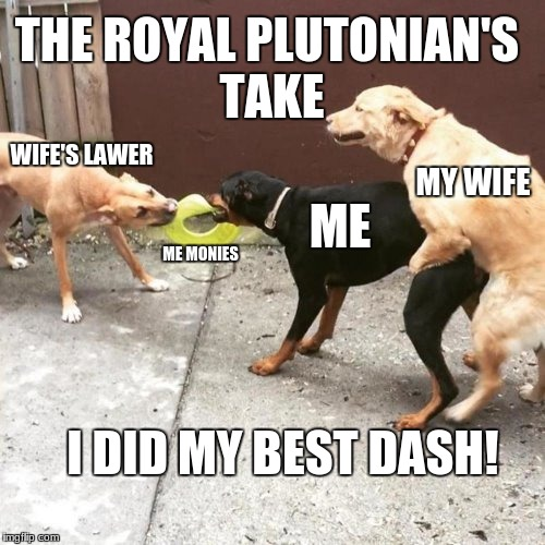 This Is My Life | WIFE'S LAWER ME MONIES ME MY WIFE THE ROYAL PLUTONIAN'S TAKE I DID MY BEST DASH! | image tagged in this is my life | made w/ Imgflip meme maker