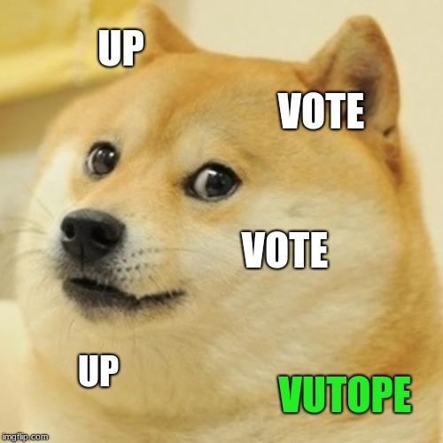 Doge Meme | UP VOTE VOTE UP VUTOPE | image tagged in memes,doge | made w/ Imgflip meme maker