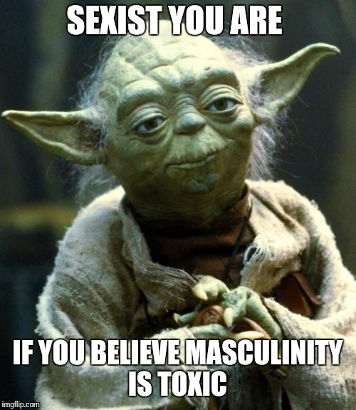Star Wars Yoda Meme | SEXIST YOU ARE IF YOU BELIEVE MASCULINITY IS TOXIC | image tagged in memes,star wars yoda | made w/ Imgflip meme maker