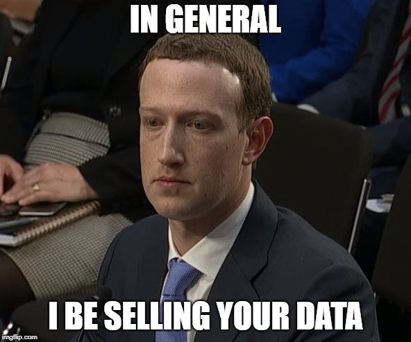 IN GENERAL I BE SELLING YOUR DATA | image tagged in in general | made w/ Imgflip meme maker