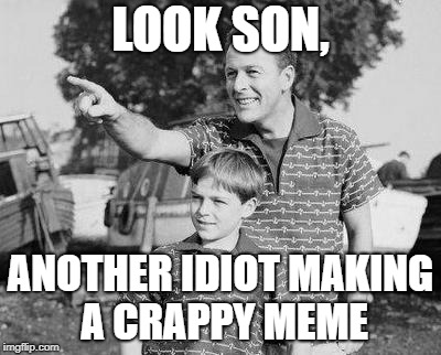 Look Son Meme | LOOK SON, ANOTHER IDIOT MAKING A CRAPPY MEME | image tagged in memes,look son | made w/ Imgflip meme maker