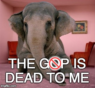 THE GOP IS DEAD TO ME W | image tagged in elephant in the room | made w/ Imgflip meme maker