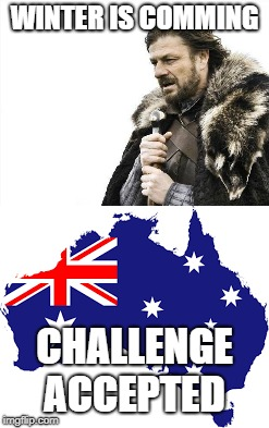 WINTER IS COMMING CHALLENGE ACCEPTED | image tagged in winter is coming,challenge accepted | made w/ Imgflip meme maker