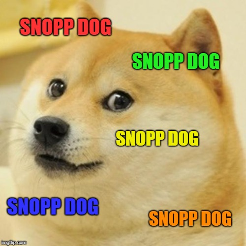 Doge Meme | SNOPP DOG SNOPP DOG SNOPP DOG SNOPP DOG SNOPP DOG | image tagged in memes,doge | made w/ Imgflip meme maker