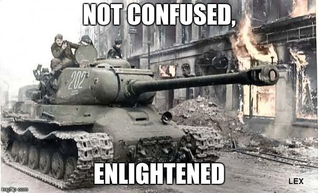 NOT CONFUSED, ENLIGHTENED | made w/ Imgflip meme maker