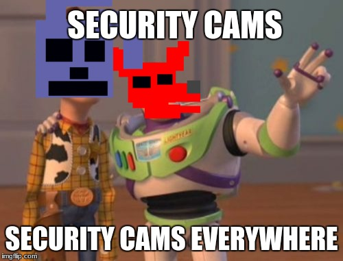 X, X Everywhere Meme | SECURITY CAMS SECURITY CAMS EVERYWHERE | image tagged in memes,x,x everywhere,x x everywhere | made w/ Imgflip meme maker