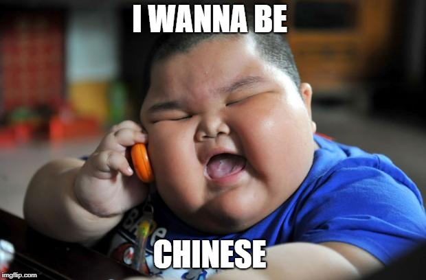 fat chinese kid | I WANNA BE CHINESE | image tagged in fat chinese kid | made w/ Imgflip meme maker