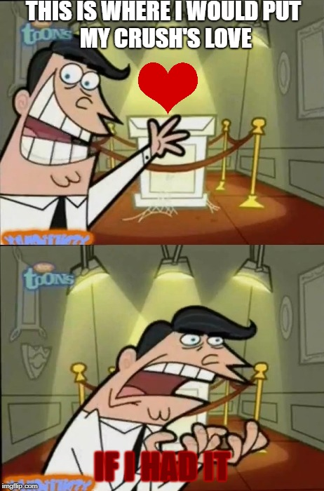 The Fairly OddParents | THIS IS WHERE I WOULDPUT MY CRUSH'S LOVE IF I HAD IT | image tagged in the fairly oddparents | made w/ Imgflip meme maker