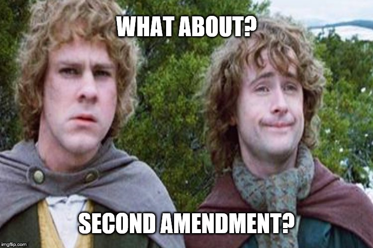 WHAT ABOUT? SECOND AMENDMENT? | made w/ Imgflip meme maker