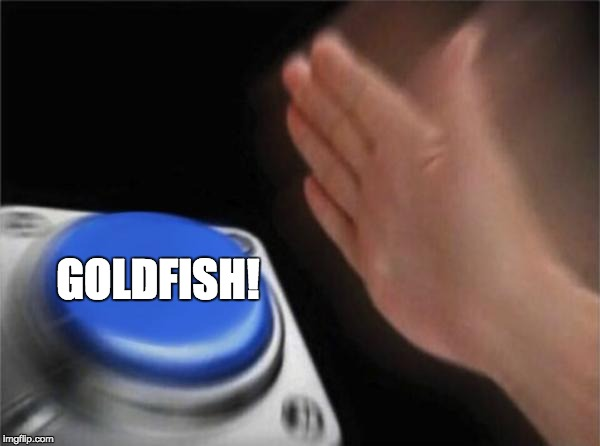 Blank Nut Button Meme | GOLDFISH! | image tagged in memes,blank nut button | made w/ Imgflip meme maker