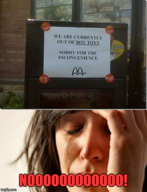 Ruin a whole day, will they? | NOOOOOOOOOOOO! | image tagged in memes,funny,dank,mcdonalds,im lovin it | made w/ Imgflip meme maker