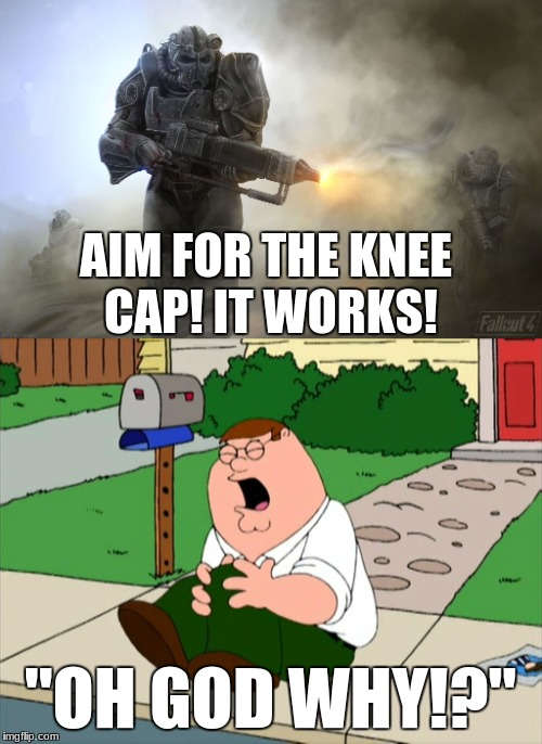 "AIM FOR THE KNEE CAP! IT WORKS! ""OH GOD WHY!?"" 
