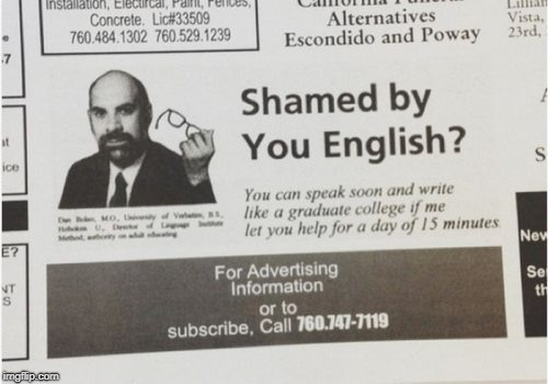 Do you need to improve your English? | image tagged in memes,funny,english,learning,teacher | made w/ Imgflip meme maker