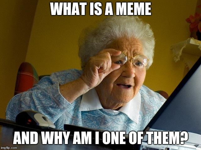Grandma Finds The Internet Meme | WHAT IS A MEME AND WHY AM I ONE OF THEM? | image tagged in memes,grandma finds the internet | made w/ Imgflip meme maker