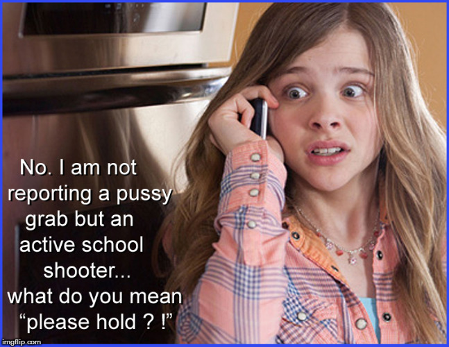 FBI- Active School shooter?....please hold.... | image tagged in fbi,grab them by the pussy,trump grabs that pussy,politics lol,funny memes,current events | made w/ Imgflip meme maker