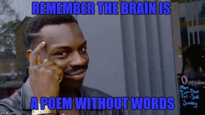 Roll Safe Think About It Meme | REMEMBER THE BRAIN IS A POEM WITHOUT WORDS | image tagged in memes,roll safe think about it | made w/ Imgflip meme maker