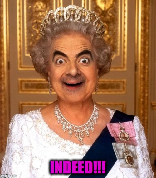 Bean Queen Lizzy | INDEED!!! | image tagged in bean queen lizzy | made w/ Imgflip meme maker