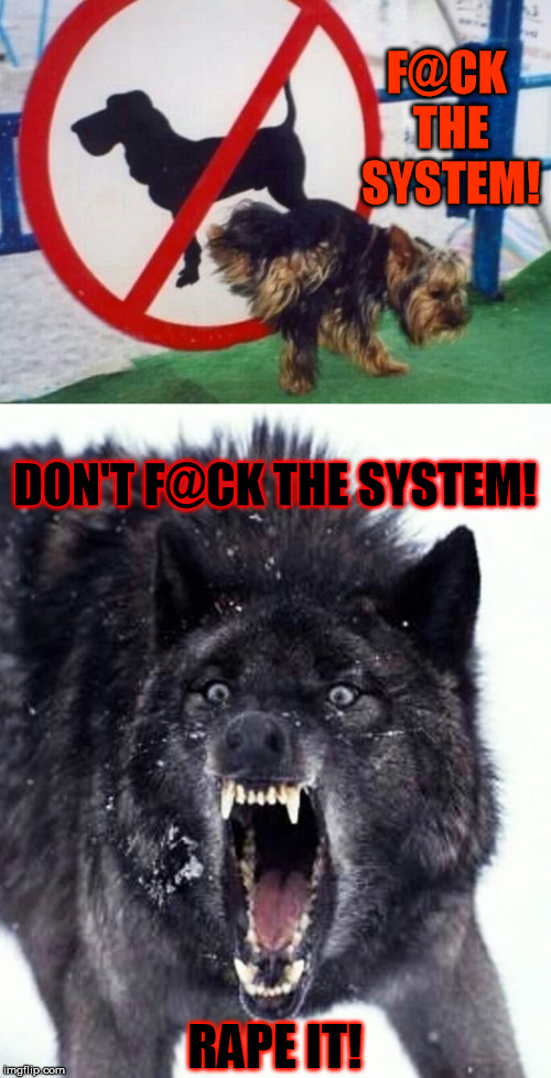 F@CK THE SYSTEM! **PE IT! DON'T F@CK THE SYSTEM! | made w/ Imgflip meme maker