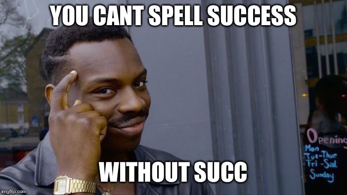 Roll Safe Think About It Meme | YOU CANT SPELL SUCCESS WITHOUT SUCC | image tagged in memes,roll safe think about it | made w/ Imgflip meme maker