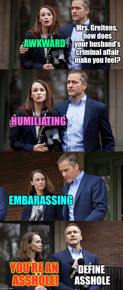 "Look in the mirror, Eric ""Bill Clinton"" Greitens 