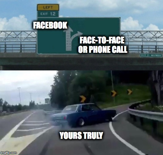 "Best Social ""Medium"" Is A Private Meeting Between Friends 