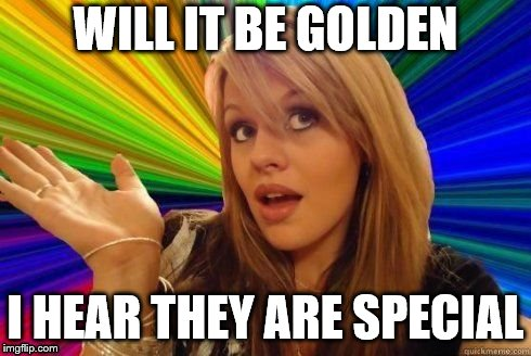 WILL IT BE GOLDEN I HEAR THEY ARE SPECIAL | made w/ Imgflip meme maker