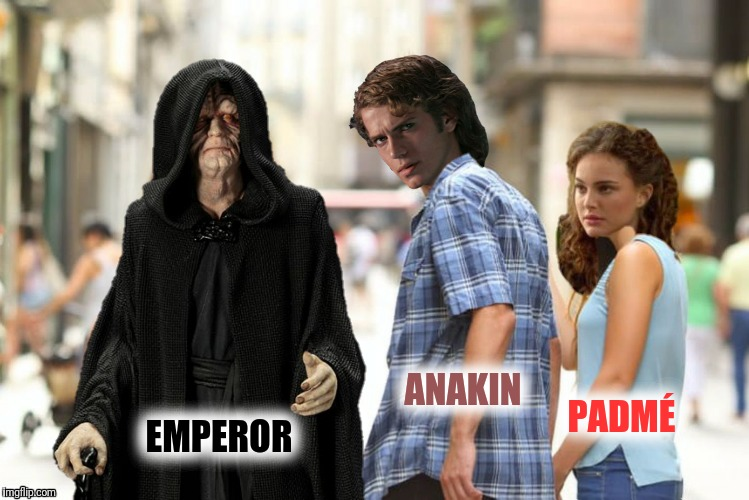 Bad Photoshop Sunday presents:  A brief history of Star Wars (Part 1 of 3) |  ANAKIN; PADMÉ; EMPEROR | image tagged in bad photoshop sunday,star wars,emperor palpatine,anakin skywalker,padme amidala | made w/ Imgflip meme maker