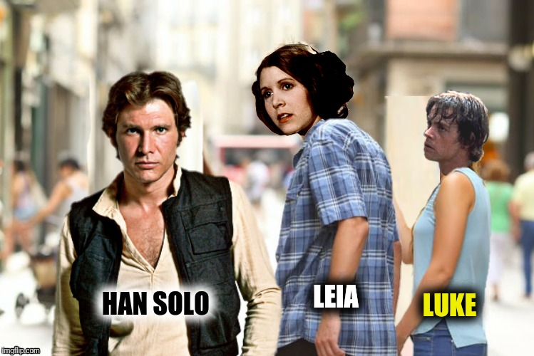 Bad Photoshop Sunday presents: A brief history of Star Wars (Part 2 of 3) | HAN SOLO LUKE LEIA | image tagged in bad photoshop sunday,star wars,han solo,princess leia,luke skywalker | made w/ Imgflip meme maker