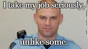 I take my job seriously, unlike some. | image tagged in tim cameron | made w/ Imgflip meme maker