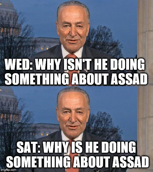 WED: WHY ISN'T HE DOING SOMETHING ABOUT ASSAD SAT: WHY IS HE DOING SOMETHING ABOUT ASSAD | made w/ Imgflip meme maker