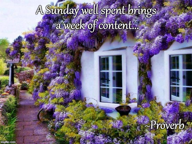 A Sunday... | A Sunday well spent brings a week of content... ~Proverb | image tagged in sunday,well spent,content,week | made w/ Imgflip meme maker