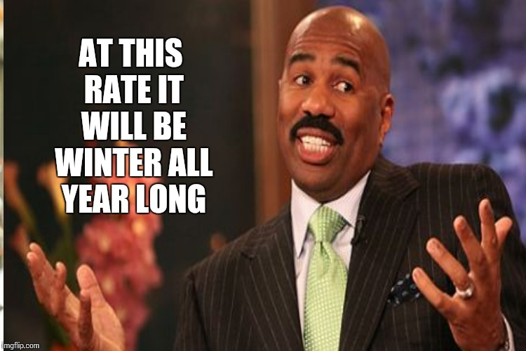 AT THIS RATE IT WILL BE WINTER ALL YEAR LONG | made w/ Imgflip meme maker