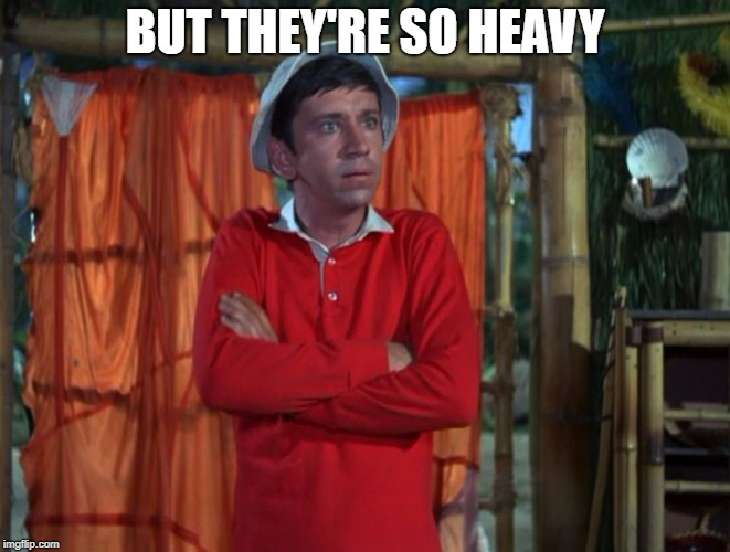 gilligan | BUT THEY'RE SO HEAVY | image tagged in gilligan | made w/ Imgflip meme maker