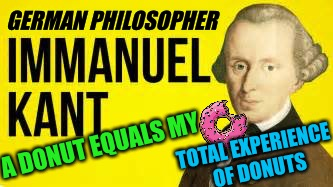 A DONUT EQUALS MY TOTAL EXPERIENCE OF DONUTS GERMAN PHILOSOPHER | made w/ Imgflip meme maker