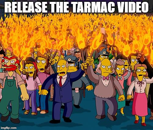 simpsons | RELEASE THE TARMAC VIDEO | image tagged in simpsons | made w/ Imgflip meme maker