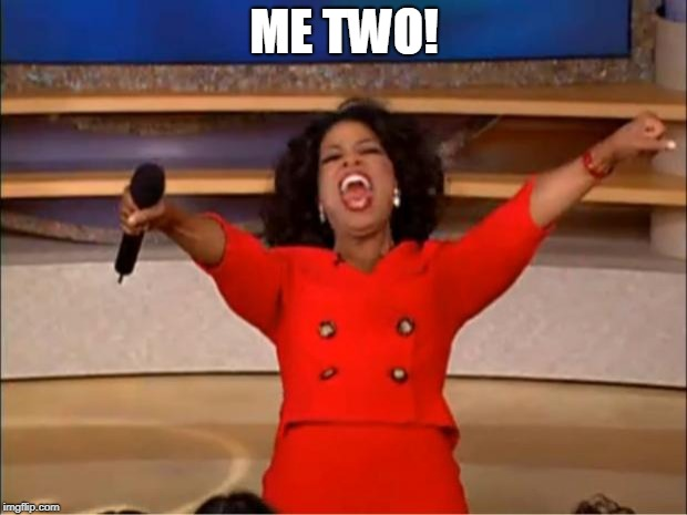Oprah You Get A Meme | ME TWO! | image tagged in memes,oprah you get a | made w/ Imgflip meme maker