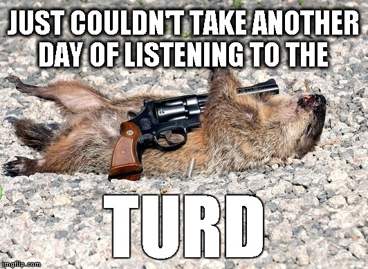 justin the turd | JUST COULDN'T TAKE ANOTHER DAY OF LISTENING TO THE TURD | image tagged in justin trudeau,funny memes,funny meme | made w/ Imgflip meme maker