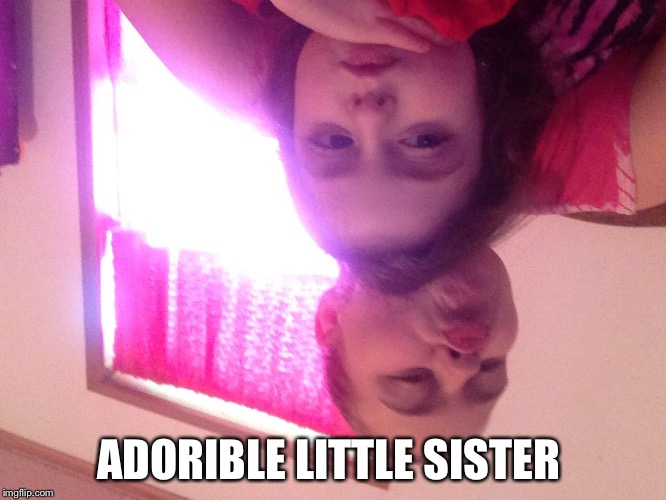 Family | ADORIBLE LITTLE SISTER | image tagged in cute baby | made w/ Imgflip meme maker