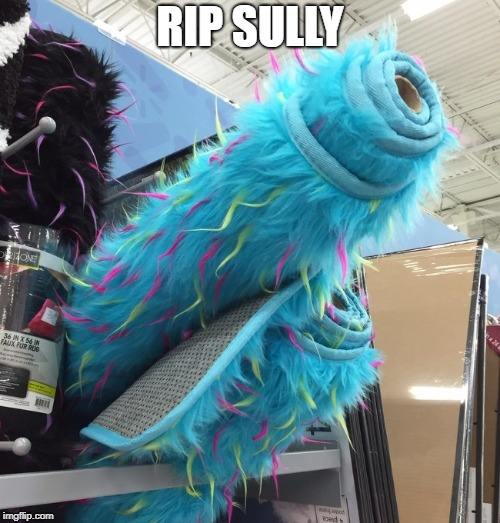 When your favorite cartoon characters bite the dust... | RIP SULLY | image tagged in sully,memes,monsters inc | made w/ Imgflip meme maker