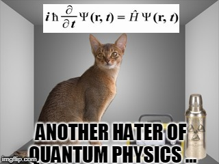 ANOTHER HATER OF QUANTUM PHYSICS ... | made w/ Imgflip meme maker