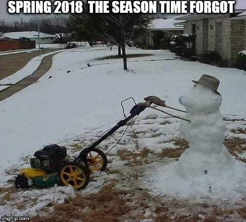 SPRING 2018  THE SEASON TIME FORGOT | image tagged in spring time in denver | made w/ Imgflip meme maker