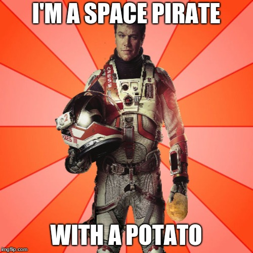 Got Potato? | I'M A SPACE PIRATE WITH A POTATO | image tagged in got potato | made w/ Imgflip meme maker