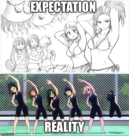 EXPECTATION REALITY | image tagged in my hero academia | made w/ Imgflip meme maker