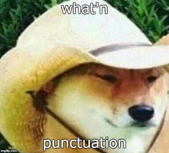 what'n punctuation | made w/ Imgflip meme maker