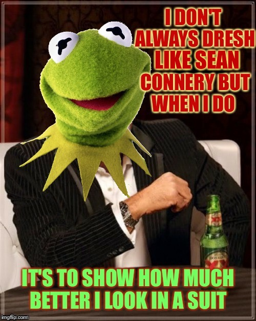 "Thanks to btbeeston for the ""most interesting frog in the world"" template! 