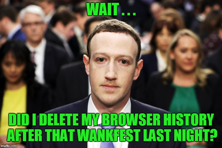 WAIT . . . DID I DELETE MY BROWSER HISTORY AFTER THAT WANKFEST LAST NIGHT? | made w/ Imgflip meme maker