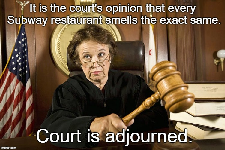 In The case of 'The People vs. Subway Restaurant"